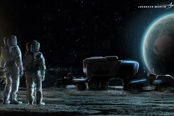 洛克希德马丁 - 通用汽车自治月球流动站概念。