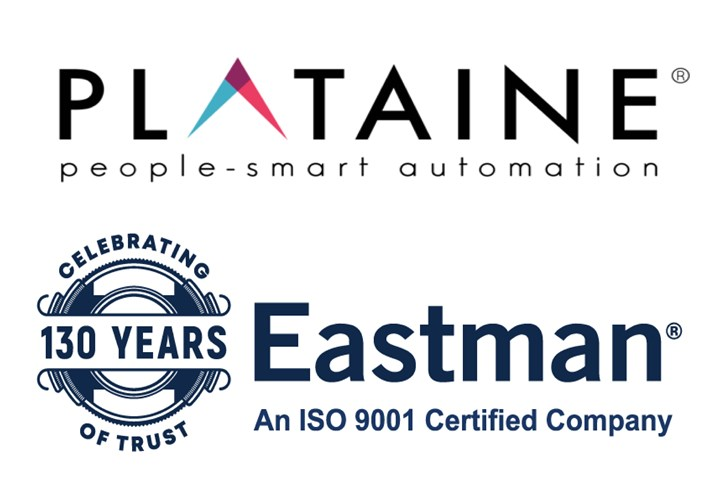 Plataine and Eastman Machine logos.