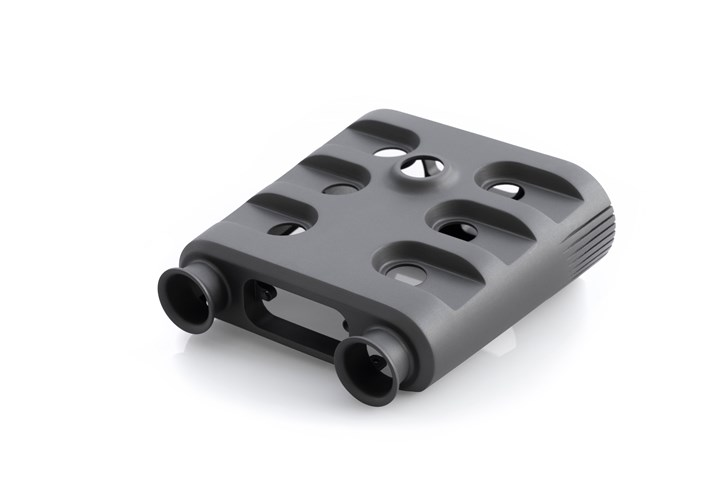 3D-printed component using CRP's Windform RS material.