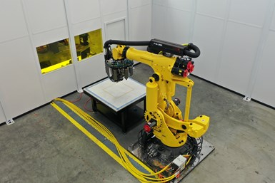 Electroimpact Scorpion automated fiber placement system, top view