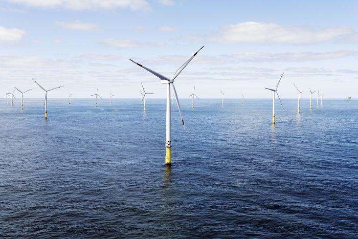 ØRsted的格登风1和2突出的德国海岸。