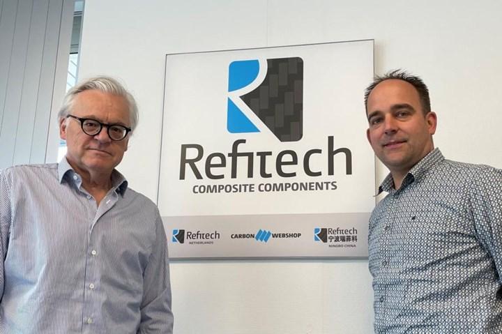 Marcel Gillis, new full owner of Refitech BV and previous owner, Arthur Cooijmans.