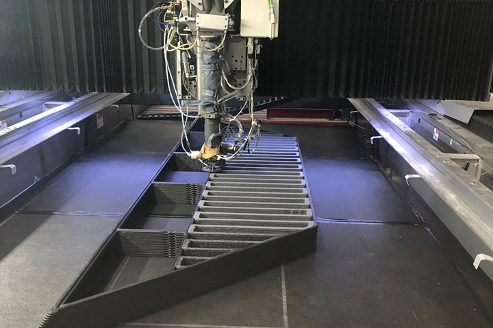 Cincinnati Inc. BAAM system processing recycled carbon fiber