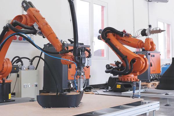 大型机器人安装的3D打印机旨在扩展AM尺寸限制图像