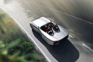 天然纤维密集的Aura电动车概念车亮相