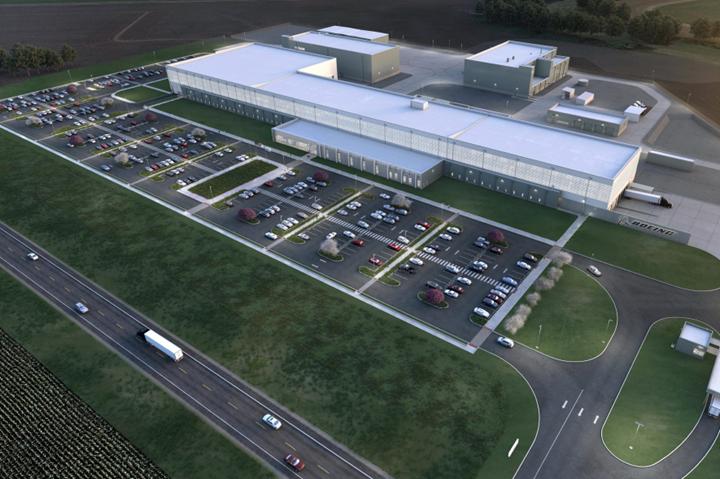伊利诺伊州MQ-25波音工厂的渲染