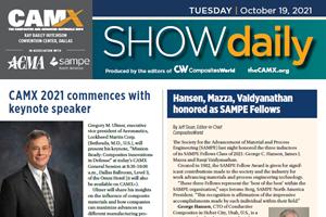 从2021年CAMX下载今天的新闻:周二,10月19日