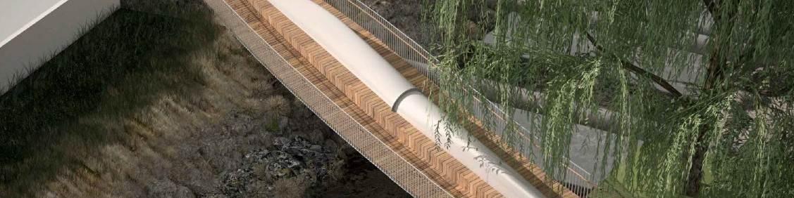 recycled wind turbine bridge