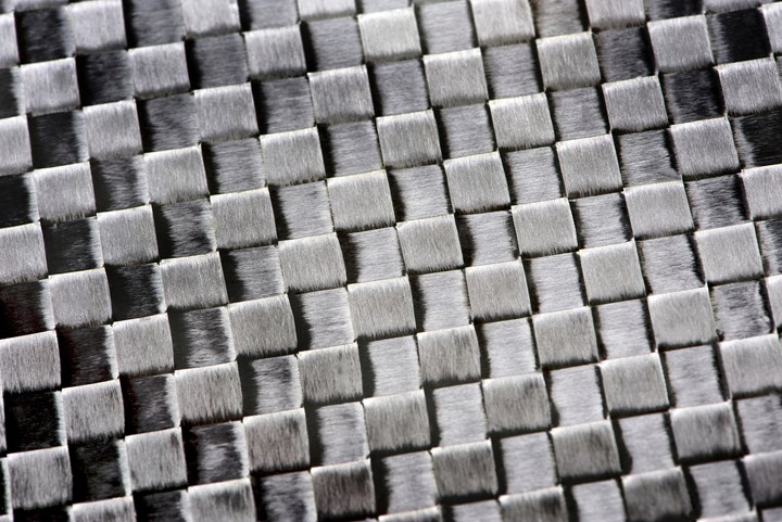 Woven carbon fiber.