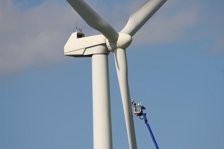 Wind turbine repair.