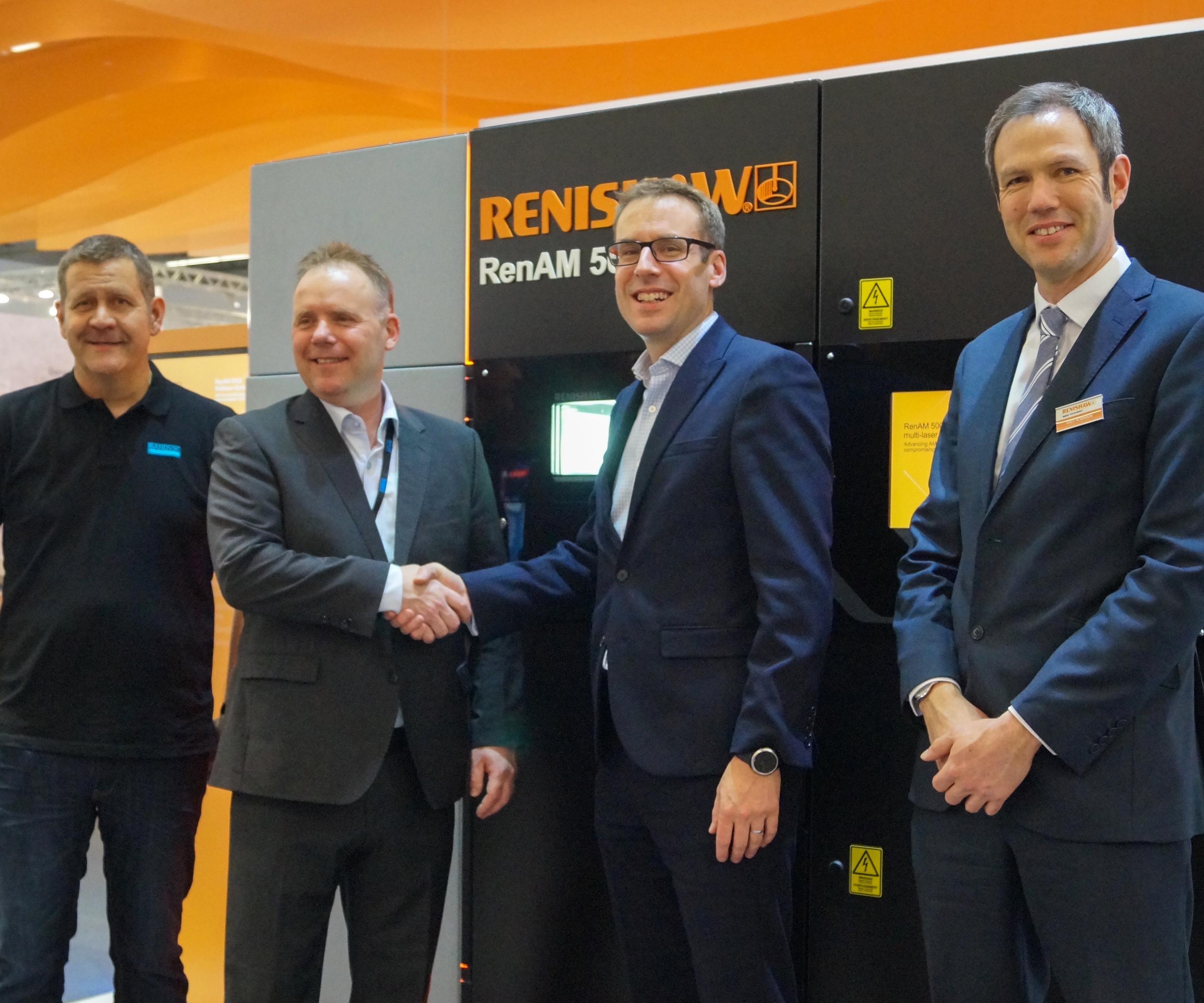 Sandviktrabaja con los sistemas de manufactura aditiva de Renishaw desde 2018 en su Centro de fabricación aditiva en Sandviken, Suecia.