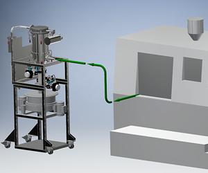Sistema de recuperación de polvo de metal VAC-U-MAX paramanufactura aditiva.