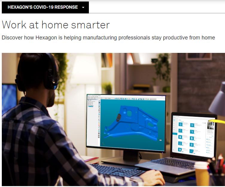 COVID-19: Hexagon libera software de su portafolio para trabajo remoto