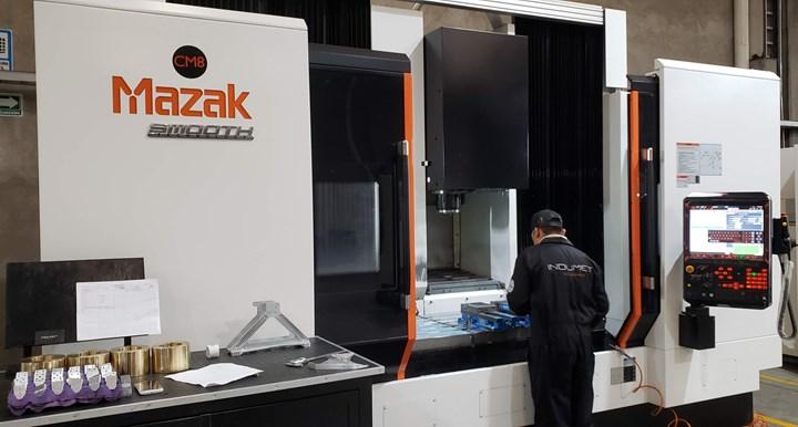 Actualmente, el taller de Indumet Aerospace cuenta con 16 máquinas CNC de última tecnología.