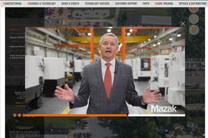 Dan Janka, presidente de Mazak, en su saludo de bienvenida al tour virtual.