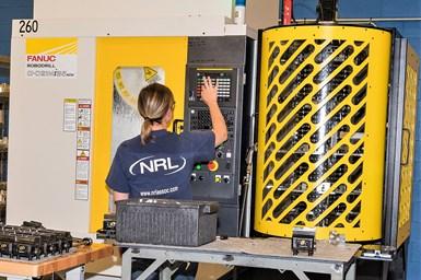 A principios de este año, NRL encargó una nueva máquina de múltiples pallets, una Fanuc Robodrill con automatización Plus-K, de Methods, en preparación para comenzar a producir ensambles de ventiladores para un antiguo cliente.