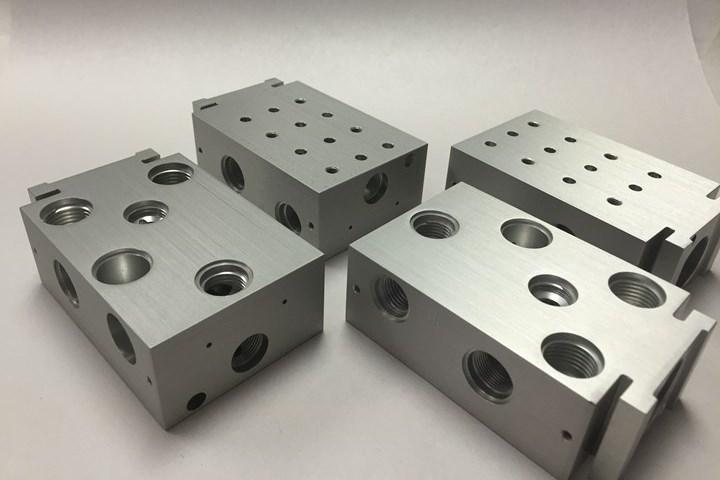 Mechanical Drive Components confía en el fresado CNC para producir mezcladores múltiples, que se utilizan en ventiladores mecánicos para cuidado médico.