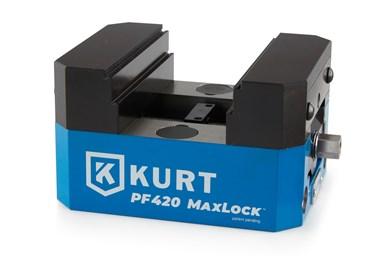 Prensas de tornillo de banco MaxLock de cinco ejes Precision Force, de Kurt.