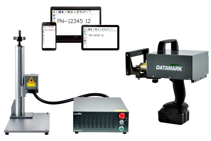 Máquinas de marcado láser de fibra de punto, de Datamark Systems.
