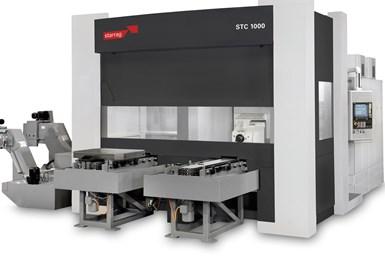Centro de mecanizado horizontal de cinco ejes STC-MTV, de Starrag.