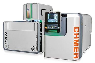 "La serie RV de electroerosionadoras de hilo de CHMER se presenta como la ""primera EDM inteligente de hilo"" ."