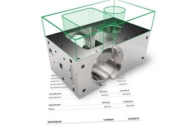 Spanflug analiza los modelos CAD y los dibujos técnicos de los componentes y calcula un precio basado en los datos resultantes en solo unos segundos.