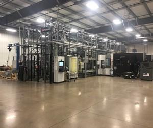 Este sistema de manufactura flexible de cuatro máquinas le brinda a CNC Industries la flexibilidad de programación para permitir la entrega de partes justo a tiempo a sus clientes aeroespaciales.