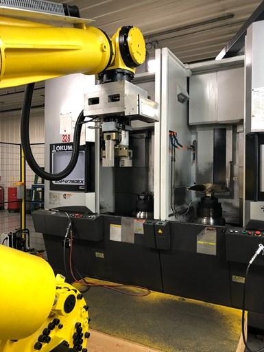 XL Machine robotic machining cell