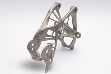 additive manufactured seat bracket