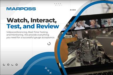 Marposs remote video conferencing testing service