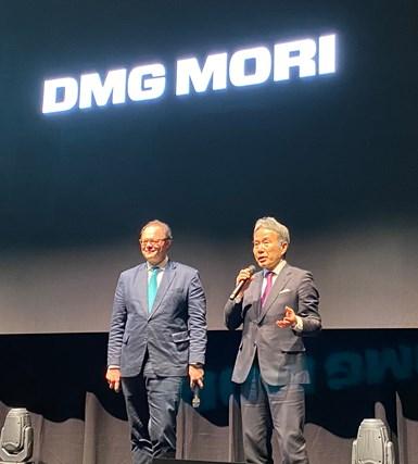 Christian Thönes, chairman of the Executive Board of DMG MORI Aktiengesellschaft, Dr. Masahiko Mori