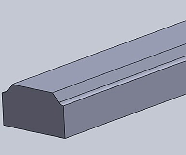 Parts with chamfered and curved surfaces