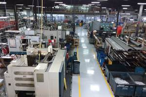 Solid Construction and Fourth Axis Are Highlights of Shop's Newest VMC