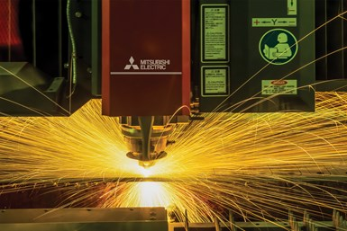 A photo of one of Brunswick Steel's machines in action.