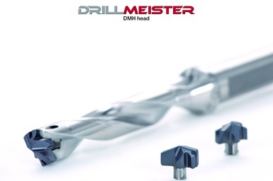 A press photo of Tungaloy's DrillMeister DMH drill head