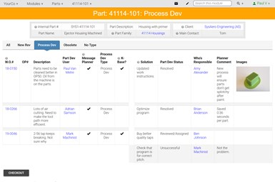 A screenshot of ProShop DME's interface