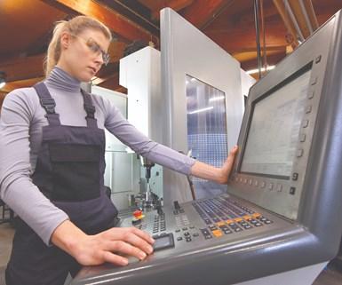 machinist at a CNC