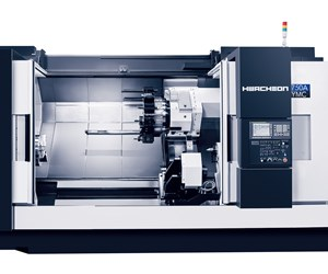 Hwacheon's Hi-Tech 750A YMC Precisely Turns Large Parts