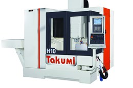 Takumi H10 Double-Column Machining Center Features 15,000-rpm Spindle