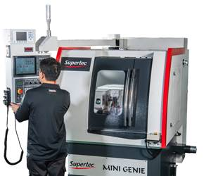 Supertec's Mini Genie Cylindrical Grinder Capable of 600 rpm