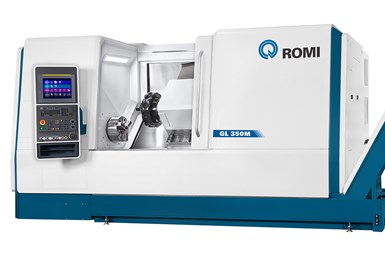 A press photo of the Romi GL 350M horizontal turning center