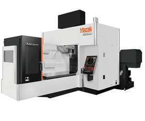 Mazak's FJV-35/80 VMC Offers High Precision for Large Workpieces