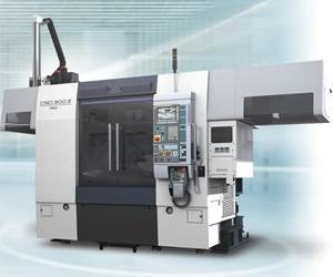 Fuji Machine's CSD-300II Twin-Spindle Lathe Achieves High Productivity