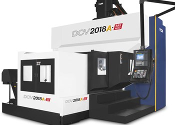 YCM's DCV2018A-5AX Machining Center Features Stable Construction for Aerospace Work