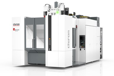 A photo of CHIRON's Series 22 five-axis machining center