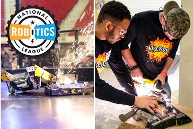 Part of a photo collage showing off the National Robotics League (NRL)