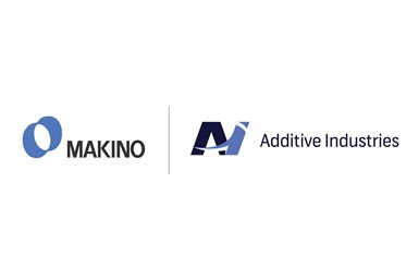 The logos of Makino and Additive Industries