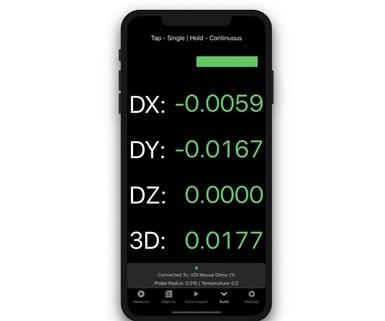 Verisurf Companion App on an iPhone