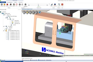 SURFCAM 2021 includes integration with NCSIMUL manufacturing simulation software
