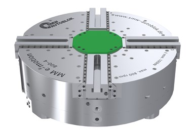 A rendering of the MM e-motion power chuck